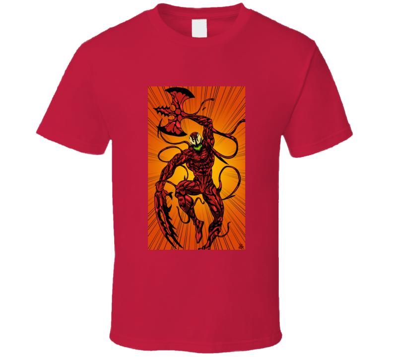 Carnage Spiderman Comics Villain Art Symbiote T Shirt