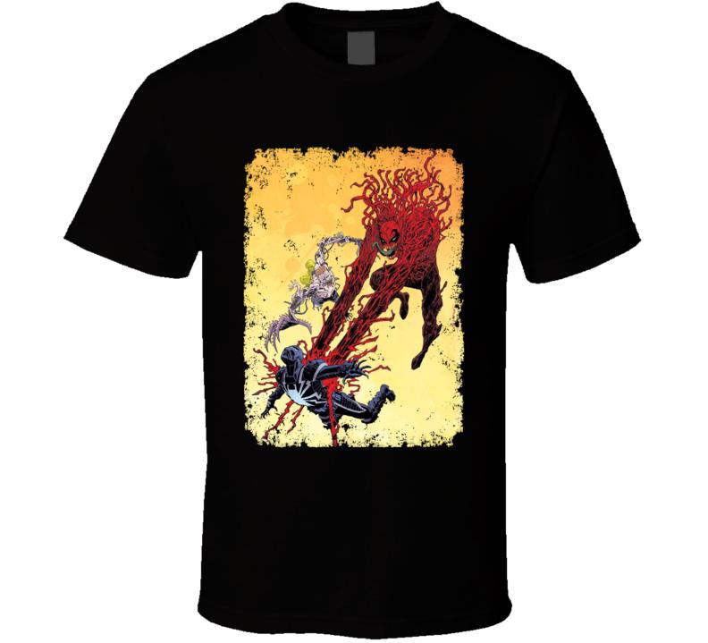Carnage Agent Venom Spiderman Comics Villain Art Aged T Shirt