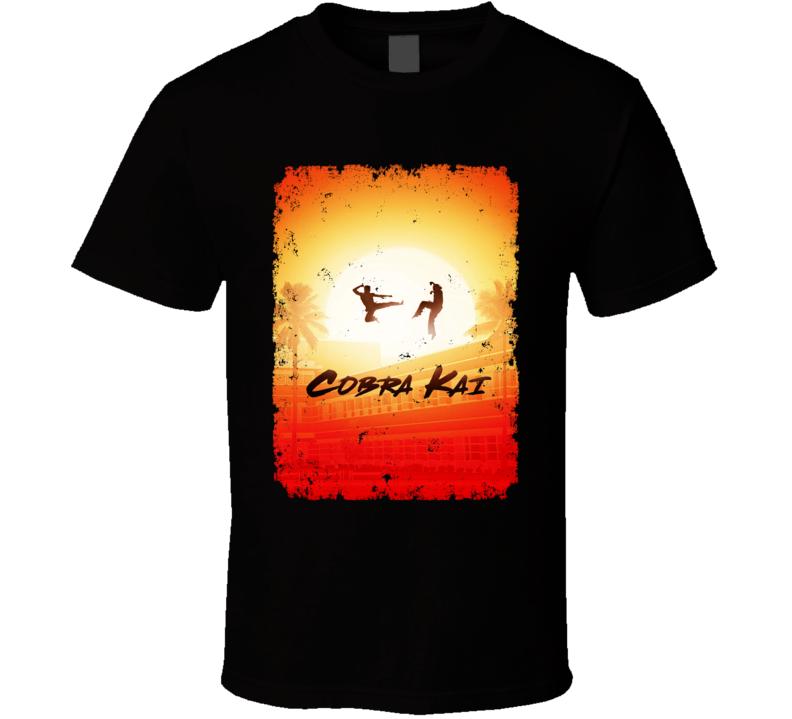 Cobra Kai Netflix Show Karate Kid Cult Poster Distressed T Shirt