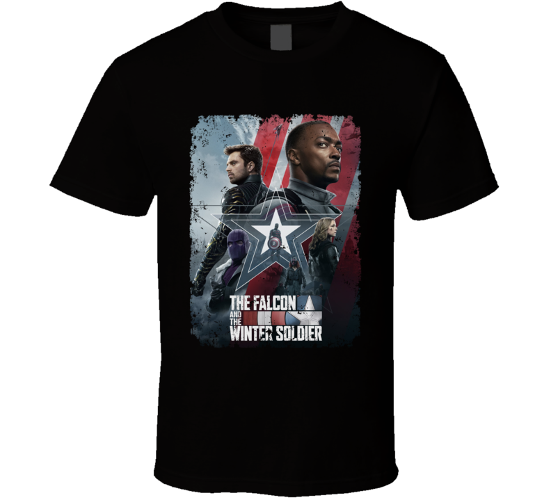 The Falcon And The Winter Soldier Marvel Show Mcu Aged T Shirt