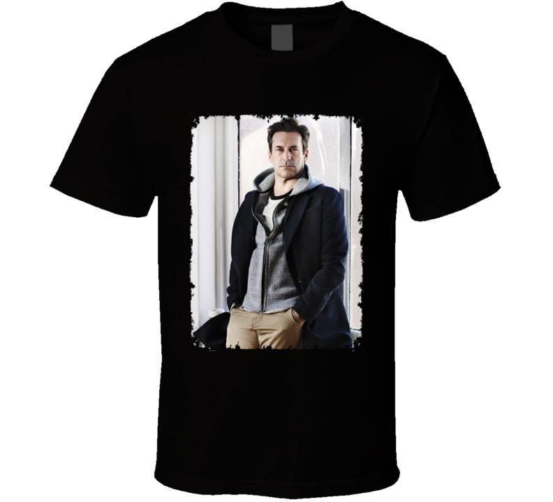 Jon Hamm Casual Photo Actor Distressed T Shirt