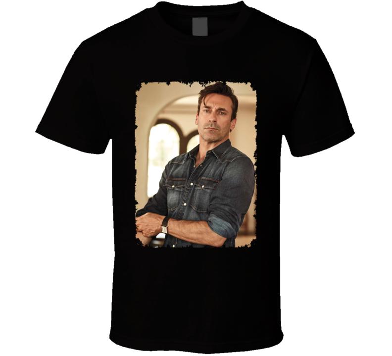Jon Hamm Actor Casual Photo Distressed T Shirt