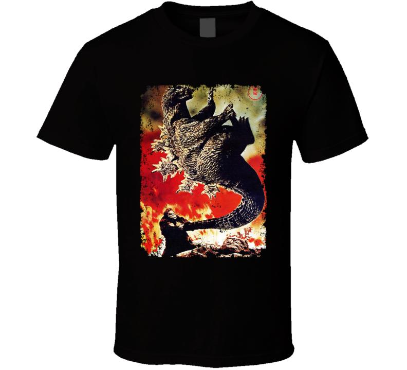 King Kong Vs Godzilla Cult Movie Classic Swinging Aged T Shirt
