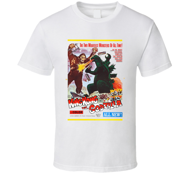 King Kong Vs Godzilla Cult Movie Classic  White T Shirt