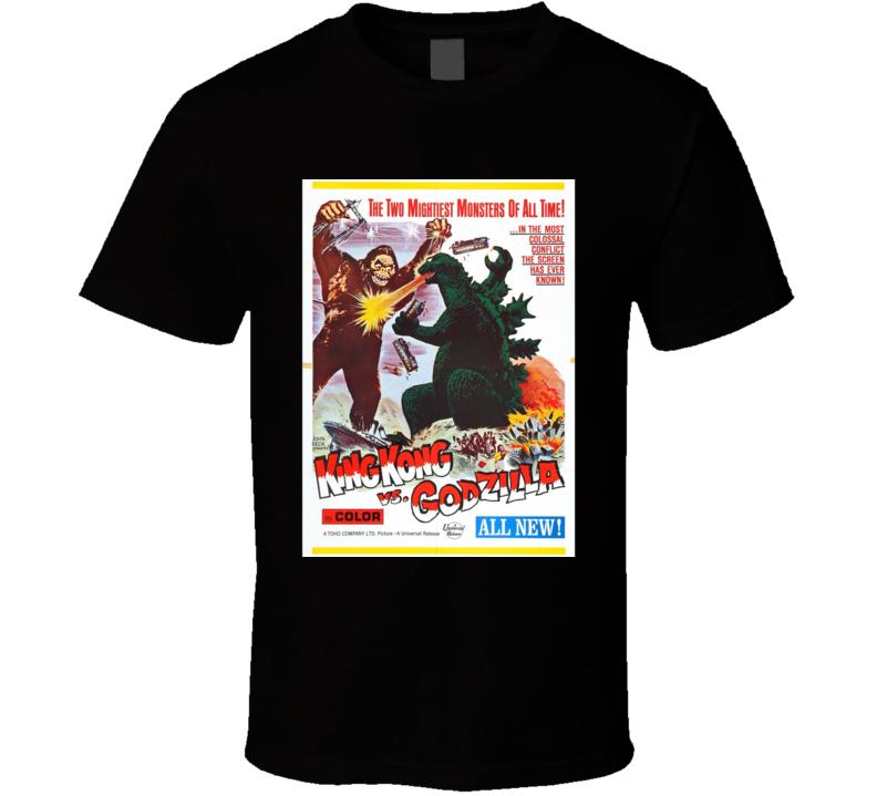 King Kong Vs Godzilla Cult Movie Classic Vintage T Shirt