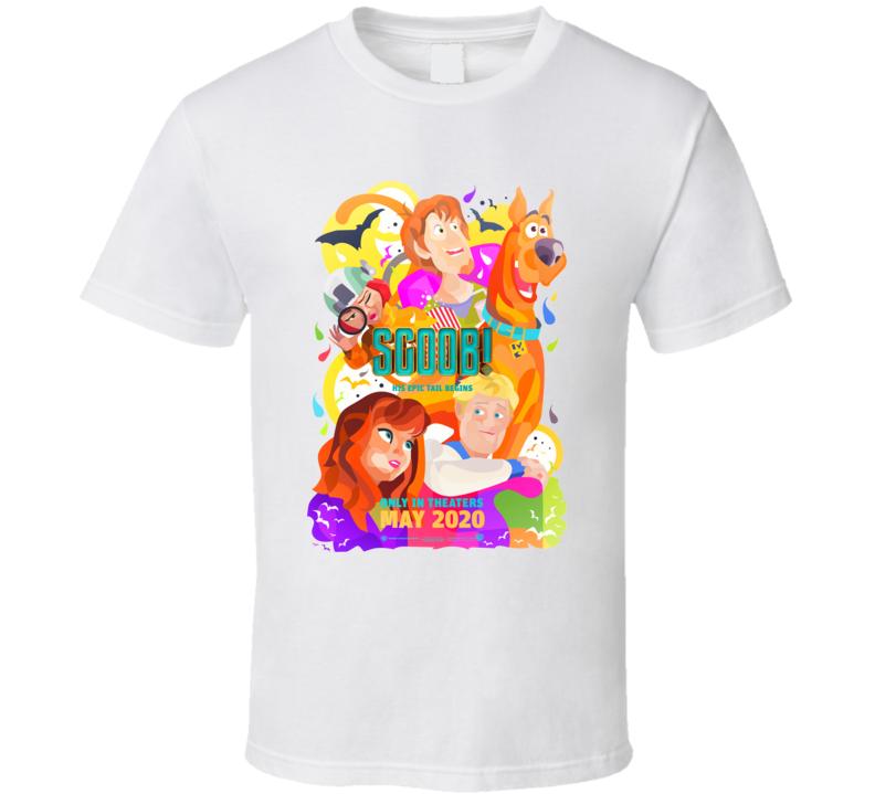 Scoob Movie Scooby Doo Shaggy Fred Velma Daphne White T Shirt