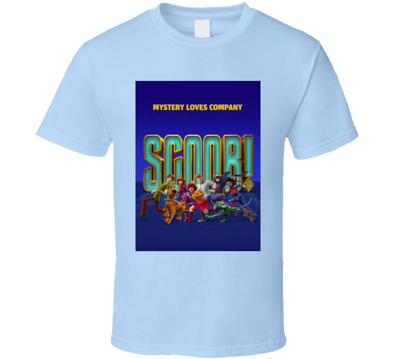 Scoob Movie Poster Scooby Doo Shaggy Daphne Fred Velma T Shirt