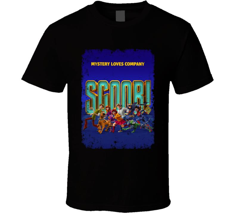 Scoob Movie Poster Scooby Doo Shaggy Daphne Fred Velma Aged T Shirt