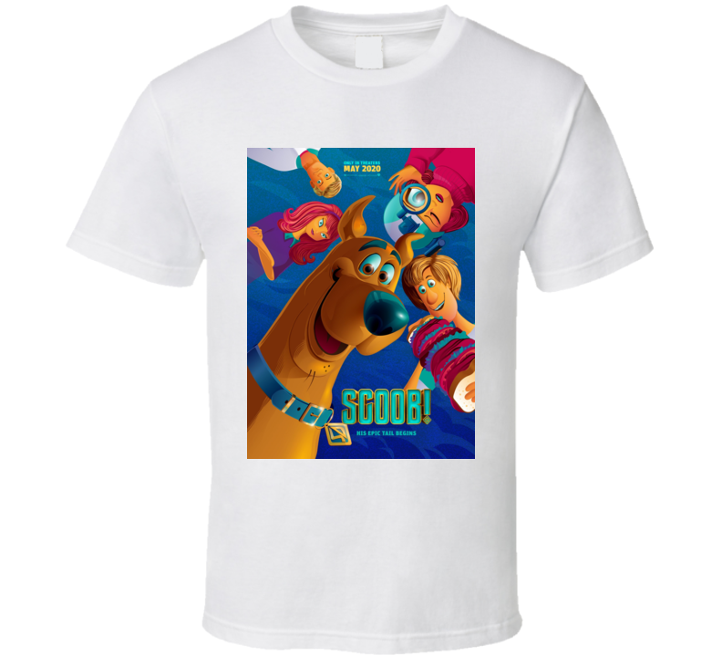 Scoob Movie Art Poster Scooby Doo Shaggy Daphne Fred Velma T Shirt