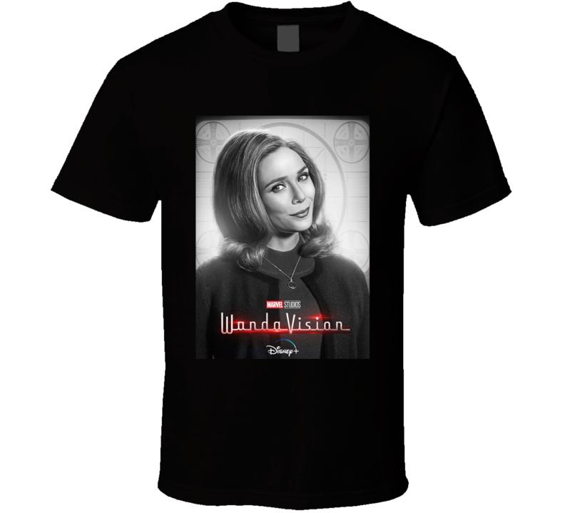 Wandavision Wanda Maximoff Olsen Poster Classic Sitcom Mcu T Shirt