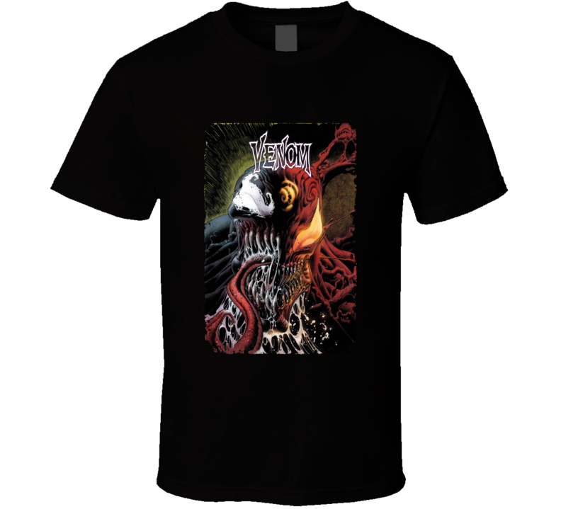 Venom Carnage Comic Book Cover Art Spiderman Aged T Shirt