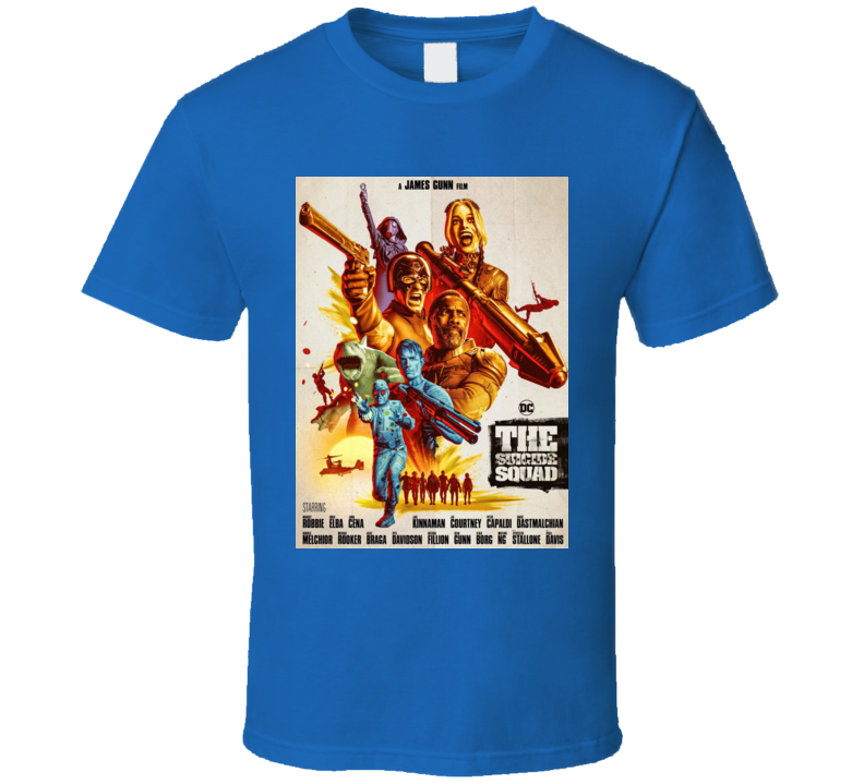 The Suicide Squad Vintage Poster Gunn Bloodsport Peacemaker T Shirt