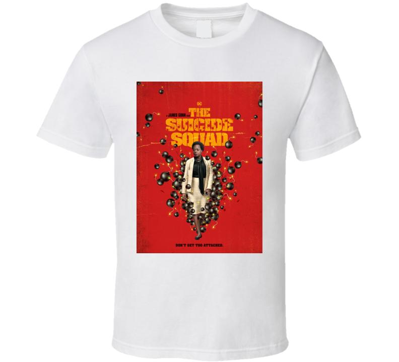 The Suicide Squad Amanda Waller Poster Gunn Movie T Shirt