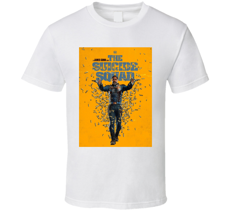 The Suicide Squad Bloodsport Poster Gunn Movie T Shirt