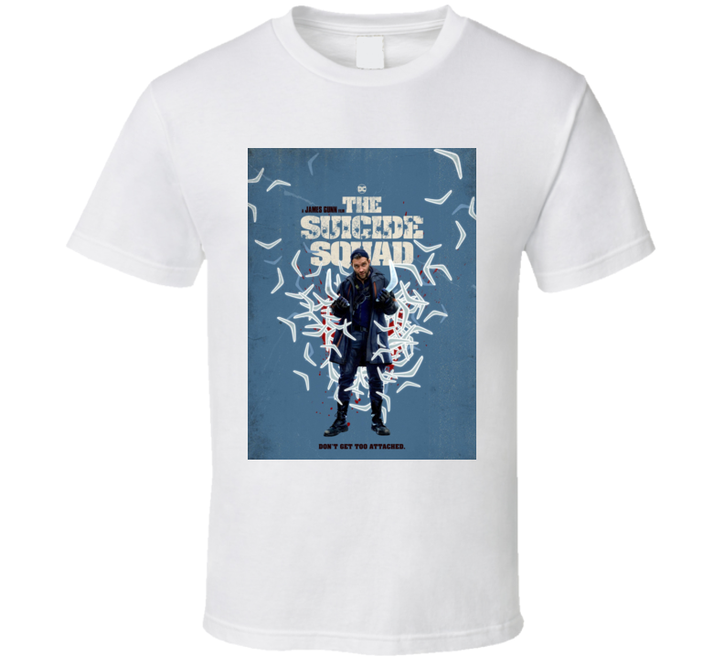 The Suicide Squad Captain Boomerang Poster Gunn Movie T Shirt