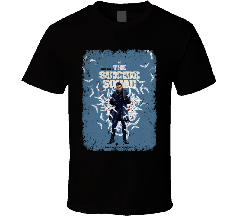 The Suicide Squad Captain Boomerang Poster Gunn Movie Aged T Shirt