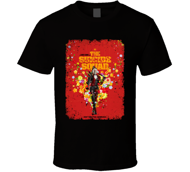 The Suicide Squad Harley Quinn Poster Gunn Movie Aged T Shirt