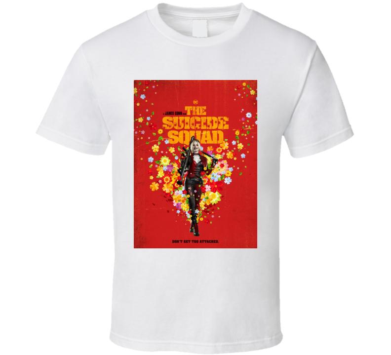 The Suicide Squad Harley Quinn Poster Gunn Movie T Shirt