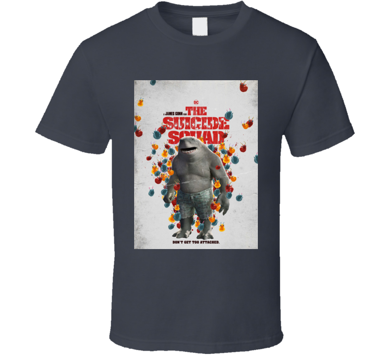 The Suicide Squad King Shark Poster Gunn Movie T Shirt