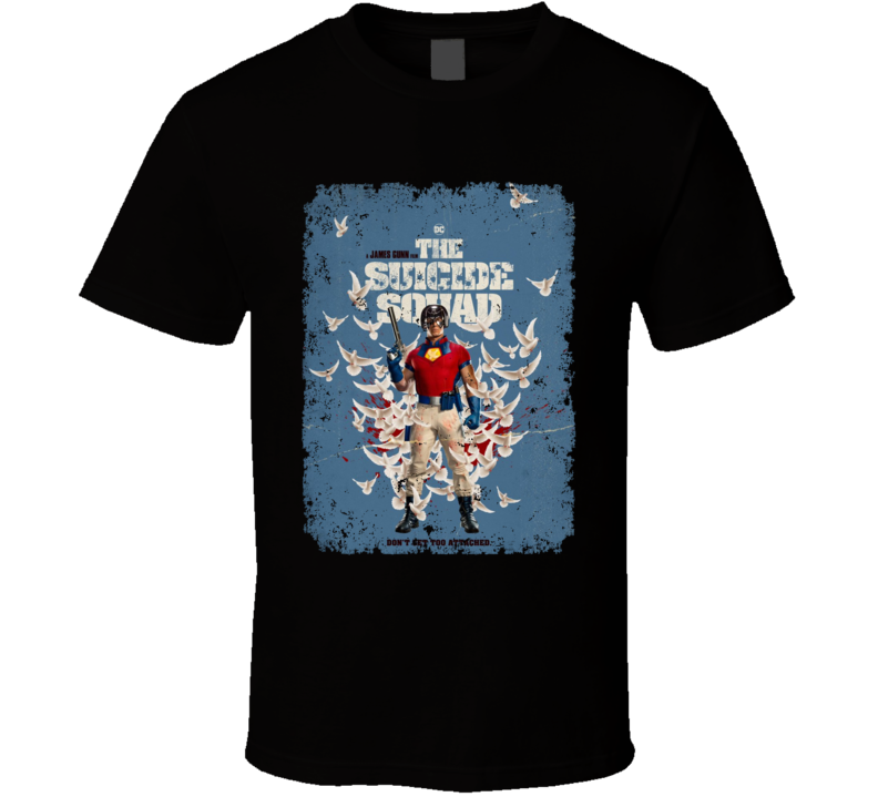 The Suicide Squad Peacemaker Poster Gunn Movie Aged T Shirt