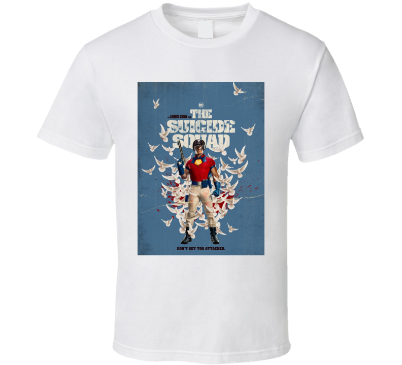 The Suicide Squad Peacemaker Poster Gunn Movie T Shirt