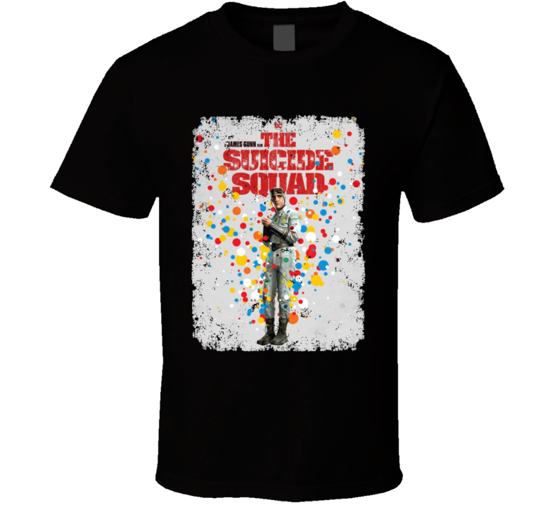 The Suicide Squad Captain Polka Dot Man Poster Gunn Movie Aged T Shirt