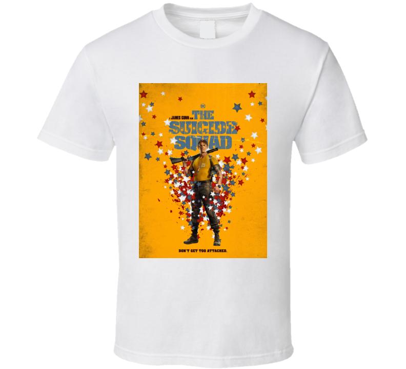 The Suicide Squad Captain Rick Flag Poster Gunn Movie T Shirt
