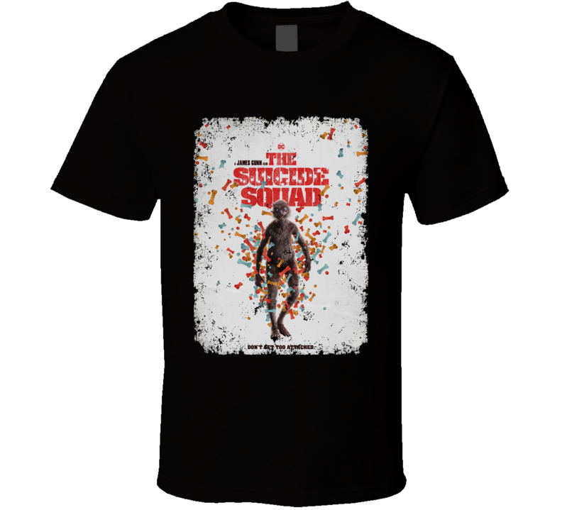 The Suicide Squad Weasel Poster Gunn Movie Aged T Shirt
