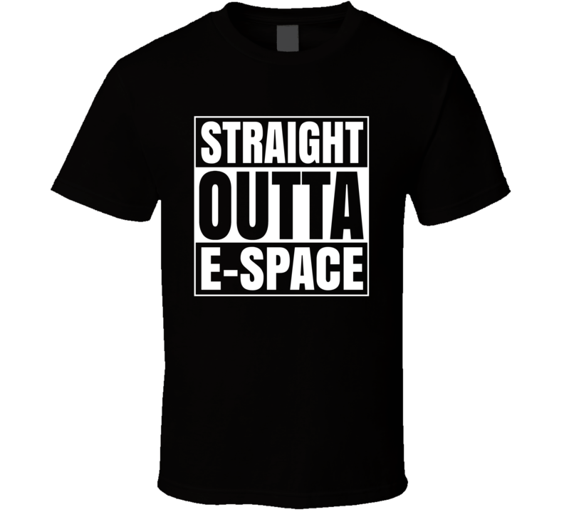 Straight Outta E Space Doctor Who Parody T Shirt