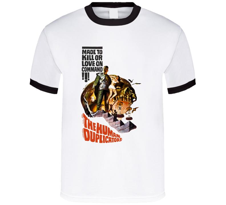 The Human Duplicators Cult Horror Movie Poster T Shirt