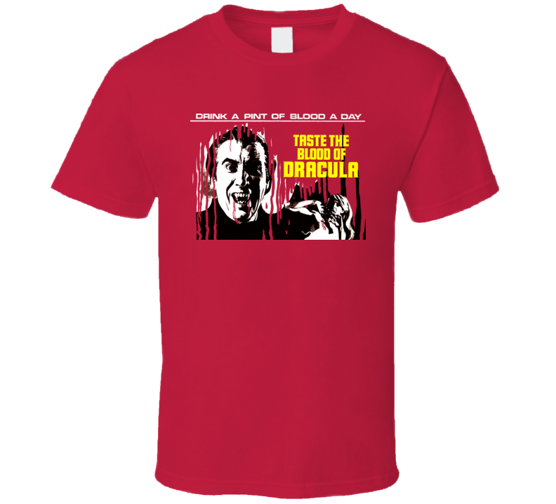 Taste The Blood Of Dracula Cult Horror Hammer Movie Film T Shirt