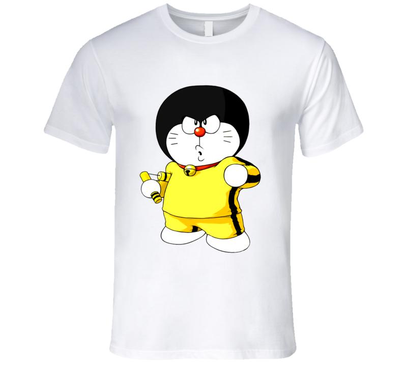 Doraemon Bruce Lee Halloween Costume T Shirt