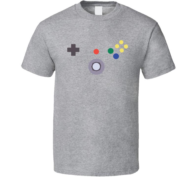N64 Nintendo Controller Buttons Costume Retro Video Game Geek Nerd Gamer Gift T Shirt