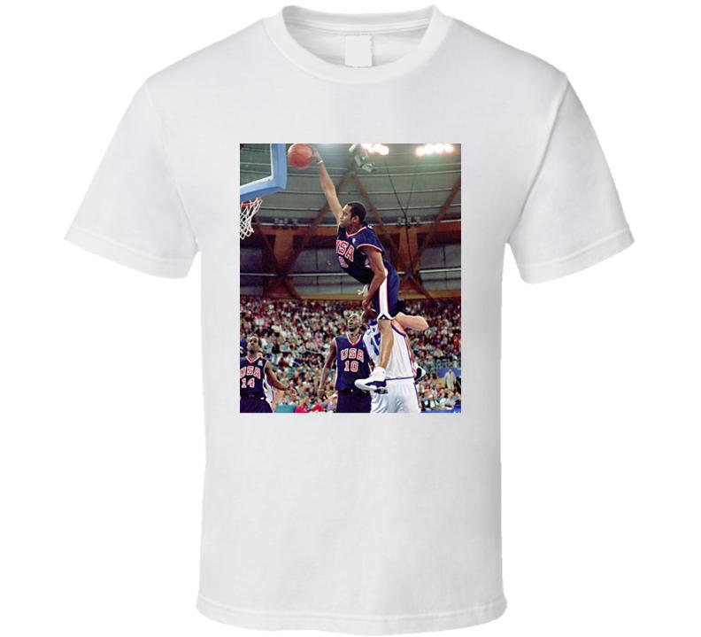 Vince Carter Dunk Team Usa Basketball Fan T Shirt