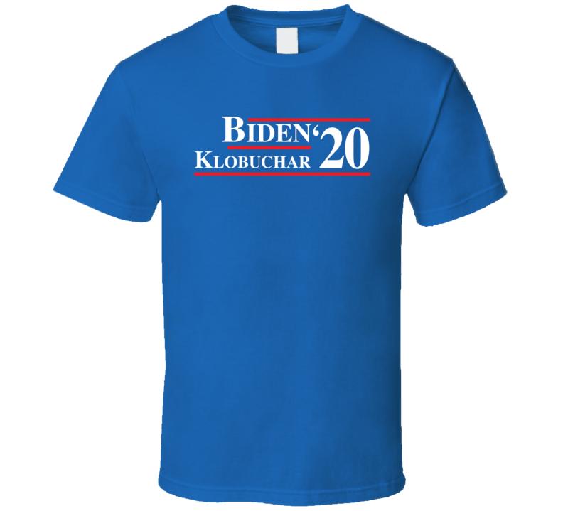 Joe Biden Amy Klobuchar 2020 Presidential T Shirt