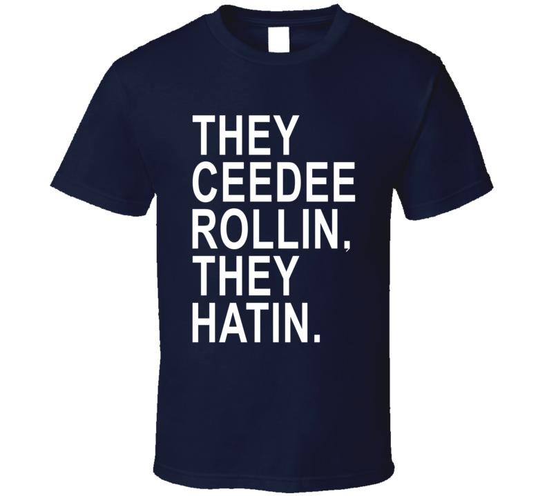 Ceedee Lamb They Ceedee Rollin They Hatin Dallas Football Fan T Shirt