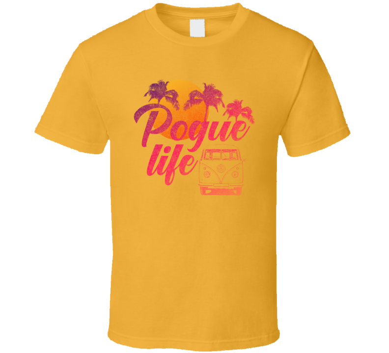 Pogue Life Sunset Outer Banks Grunge Look T Shirt