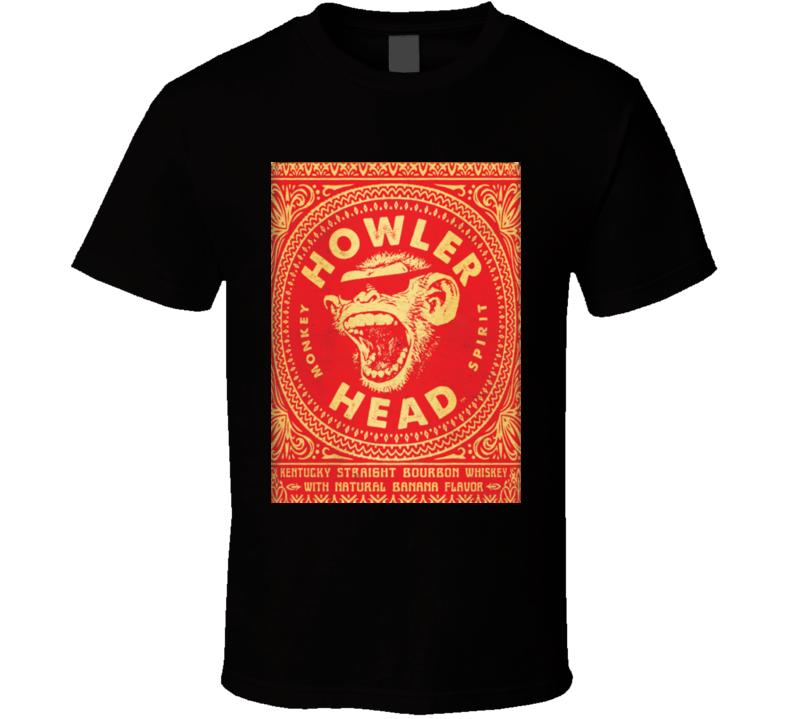 Howler Head Monkey Spirit Kentucky Straight Bourbon Label T Shirt