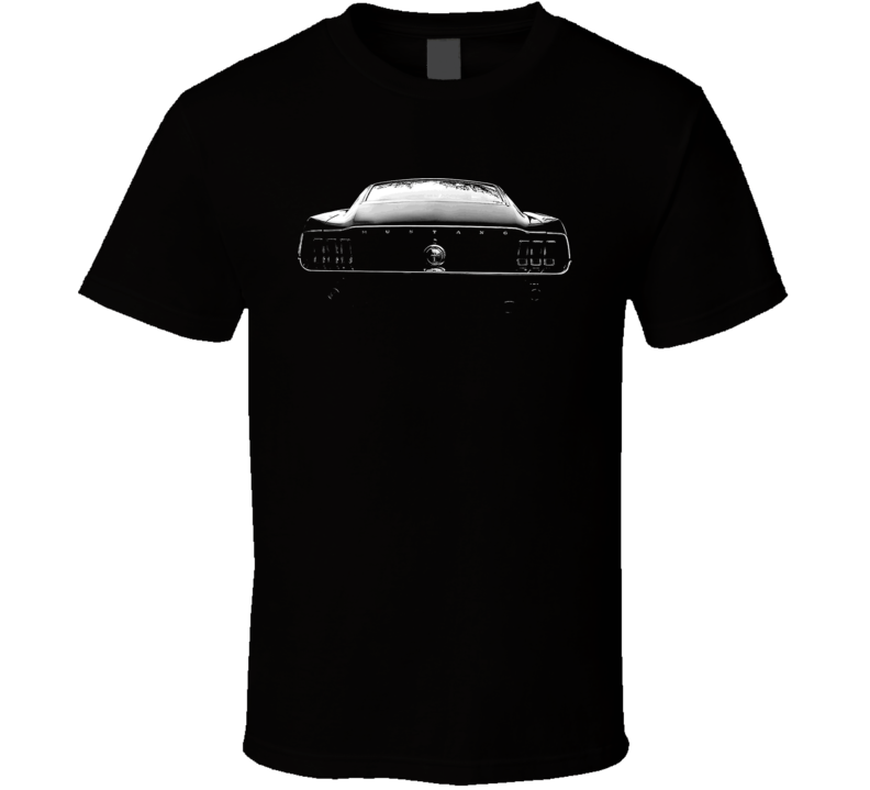 Ford Mustang Classic Collectible Car Back End T Shirt