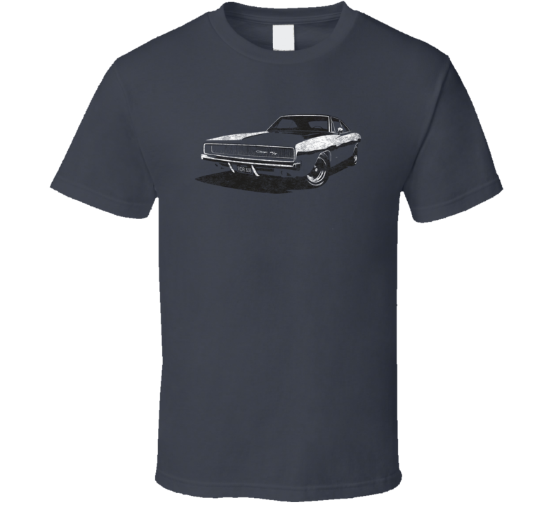 Dodge Challenger Rt Classic Retro Collectible Muscle Car Fan Worn Look T Shirt