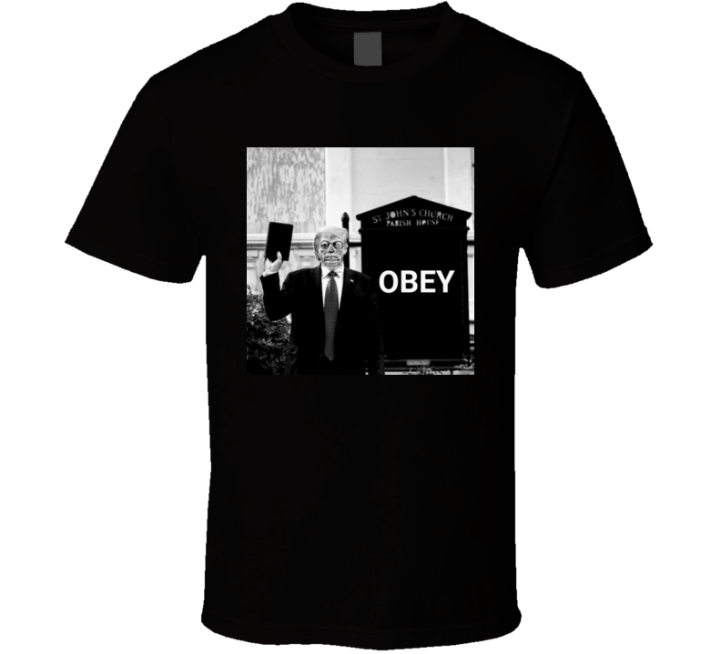 Donald Trump Obey They Live Zombie T Shirt