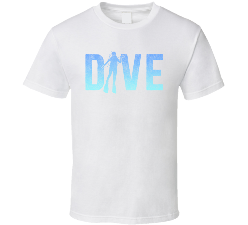 Dive Swimmer Distressed Look T Shirt