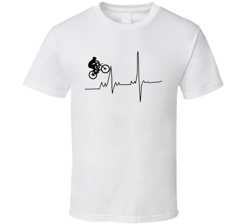 Cycling Heart Beat Bicycle Lover T Shirt