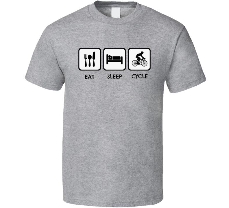 Eat Sleep Cycle Bicycle T Shirt