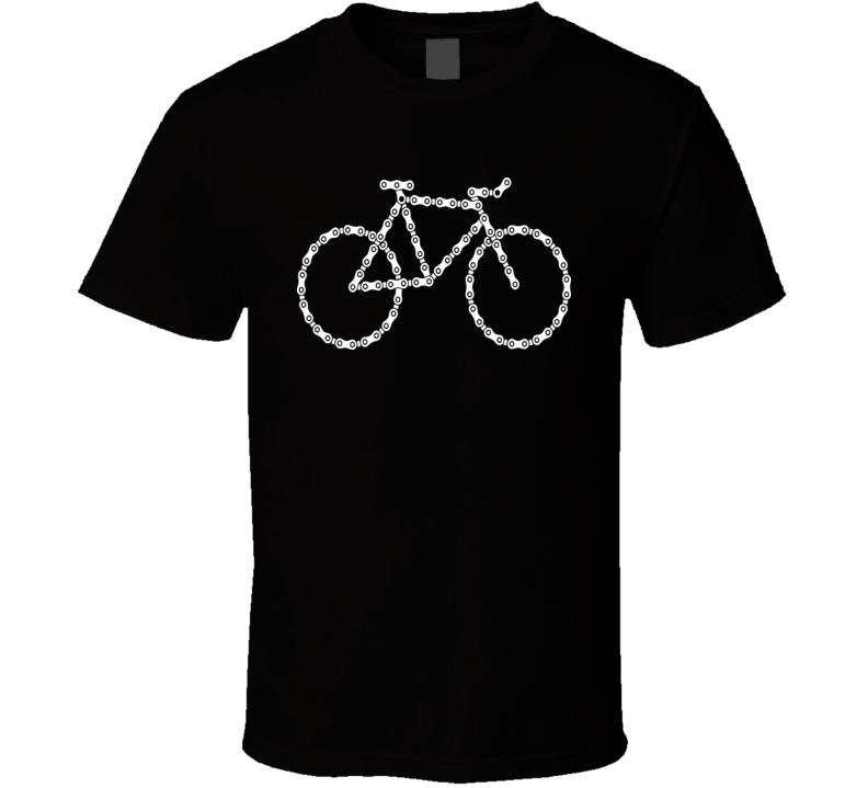 Bicycle Chain Art T Shirt
