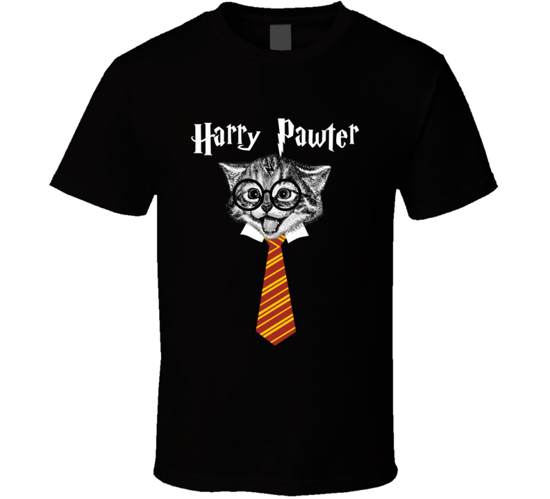 Harry Pawter Funny Cat Lovers Harry Potter Parody T Shirt