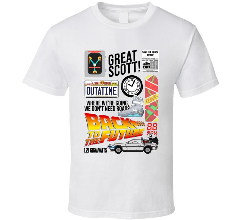 Back To The Future Retro Movie Mashup T Shirt