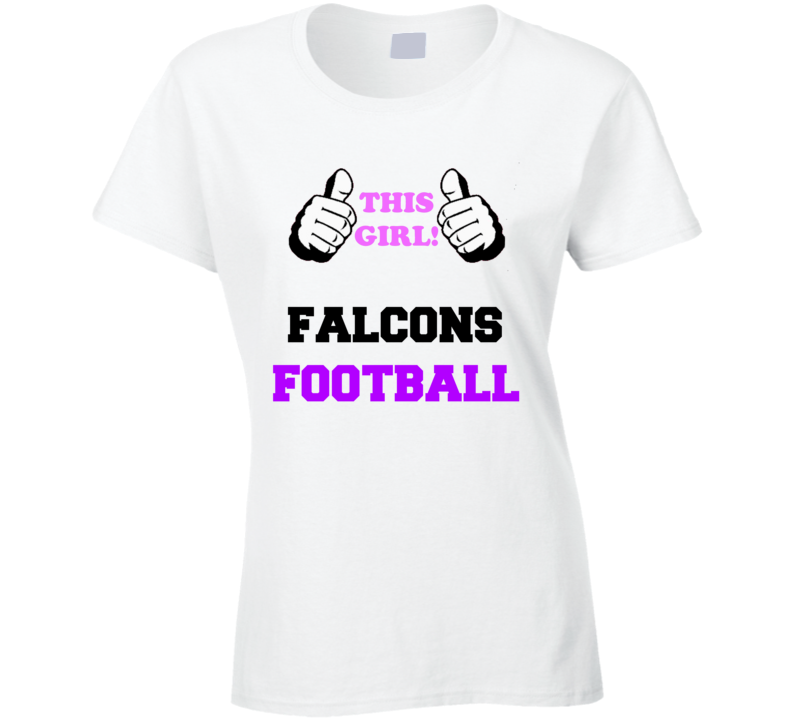 timeless design af629 0e467 Atlanta Falcons Football Fan Shirt, This Girl Thumbs, Falcons Football,  funny, football fan, mother's day gift, sports fan gift, birthday gift,  swag, ...