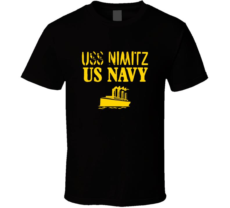 USS Nimitz US Navy Ship Crew Boat T Shirt