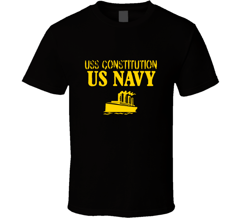 USS Constitution US Navy Ship Crew Boat T Shirt